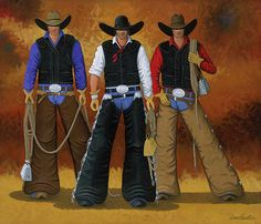 LET'S RIDE cowgirl and cowboy painting by Lance Headlee http://lance-headlee.artistwebsites.com/featured/lets-ride-lance-headlee.html see more Lance Headlee original western paintings at http://lanceheadlee.com/category/contemporary-western-collection/