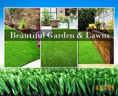 Beautiful Synthetic Lawn : Pet Friendly Kid Safe Artificial Grass for Fake La. Garden Law, Garden Turf, Lawn And Garden, Home And Garden, Beautiful Home Gardens, Beautiful Homes, Fake Lawn, Synthetic Lawn, Lawns