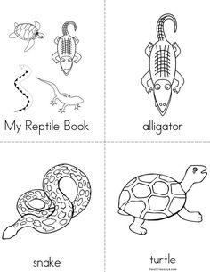 Reptiles Books Reptiles Books My Reptile Book Mini Book