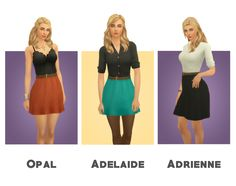 """blogsimplesimmer:  """" Hi everyone! I have another somewhat big project to share with you all today! I had a sweet anon request for some of my dresses to be shortened, and so I have done that with a..."""