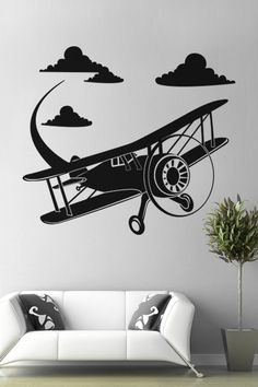 Airplane wall decal by WALLTAT.com