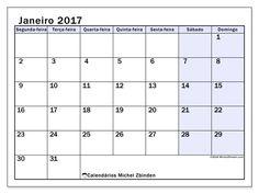 janeiro 2017para imprimir, livre. Calendário mensal : Auxilius (Sf). A semana começa na segunda-feira