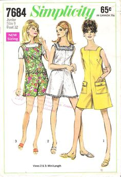Vintage 1960's Simplicity #7684 Sleeveless Pantdress Sewing Pattern, offered on Etsy by GrandmaMadeWithLove