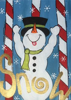 """Paint """"Victory Snowman"""" at"""