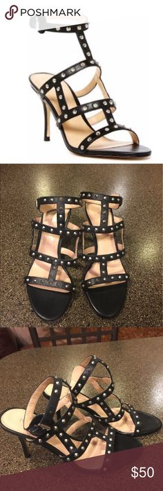 Ivanka Trump Gemina Studded Strappt Sandals Sz 6.5 Ivanka Trump Gemina Studded Strappt Sandals Size 6.5. Worm once and like new. Selling for a friend who loves them but needed a 7. Ivanka Trump Shoes Sandals