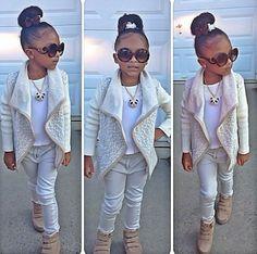 Kids fashion. Adorable little girls fashion.