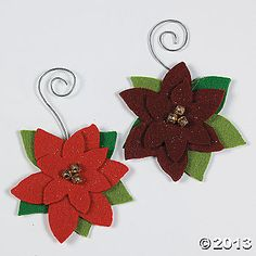 oriental trading Christmas craft kit felt pointsetta