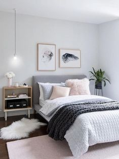 pink grey bedroom idea bedroom for women for teens for girls for couple master bedroom design. Bedroom Ideas For Couples Master Bedroom Design, Home Bedroom, Girls Bedroom, Bedroom Carpet, Bedroom Ideas Master For Couples, Bedroom Ideas For Teen Girls Grey, Bedroom Decor For Women, Bedroom Ideas For Couples Grey, Gray Room Decor