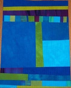 Abstract Blue Quilt by Kelly Meanix
