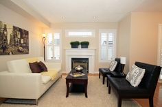 Living room staged by On Stage Home Staging in Brooklin Ontario