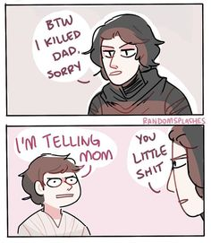Kylo Ren meets his younger self