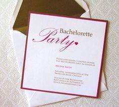 Love these Bachelorette Invitations