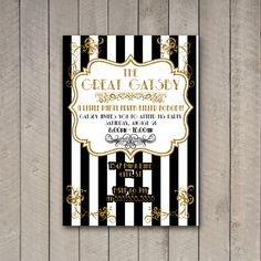 Gatsby Party Invitation The Great Gatsby Party by WhitetailDesigns, $10.00