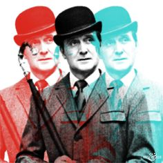 Triple #JohnSteed - #TheAvengers Graphic #PopArt   @ARTandHUE http://artandhue.com/shop/triple-steed/