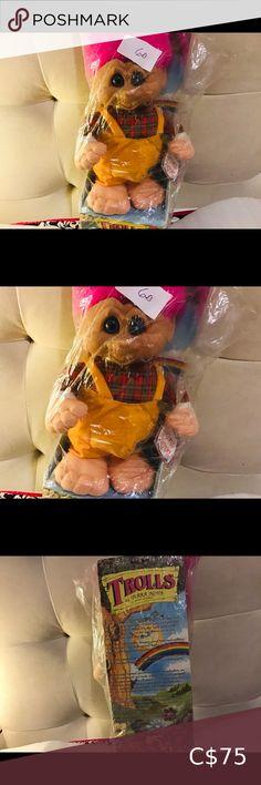 "Toll Doll Terra Nova 1992 , Ganz I have this troll doll from 1992 was in storage collectors,,,body plush head hard plastic ,,14"" Tall,,pink hair blue eyes Terra Nova Toys Dolls & Accessories Bratz Doll, Doll Toys, Furby Boom, My Child Doll, Book Costumes, Disney Princess Aurora, Hello Kitty Plush, Vintage Jerseys, Troll Dolls"