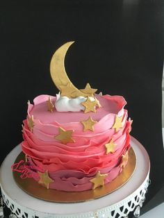 Moon & stars by Luscious Bakes by Rashmi