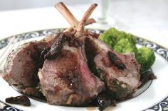 Rack of #Lamb with Port #Fig Sauce #dinner #recipe from Anolon!