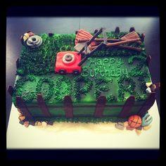 @sugarcubedcc lawn mower garden tools cake