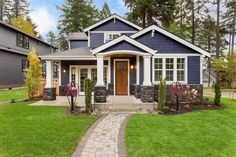 If you can't remember the last time you scheduled some time to maintain your home's exterior, now is the time to do so. Here are some exterior home maintenance tips to help you get started. Design Exterior, House Paint Exterior, Exterior House Colors, Exterior Siding, Blue House Exteriors, Exterior Paint Colors For House With Stone, Exterior Paint Ideas, Outdoor House Colors, Beach Cottage Exterior