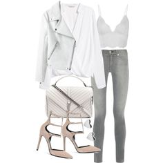 Untitled #19831 by florencia95 on Polyvore featuring H&M, rag & bone, Anine Bing, Kendall + Kylie and Yves Saint Laurent