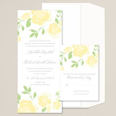 Ravishing Roses Wedding Invitation (available in other colors) | #exclusivelyweddings | #yellowwedding