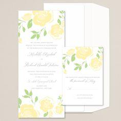 Ravishing Roses Wedding Invitation (available in other colors) | #exclusivelyweddings | #yellowwedding