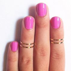 Gold Above The Knuckle Rings from Picsity.com