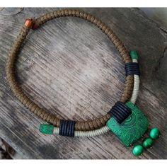 """Necklace """"Amazonia"""" #statementnecklace #necklace #instalike #handmade #jewelry #instajewelry #forsell #полимернаяглина #ручнаяработаминск #polymerclay #bohojewelry #polymerclayjewelry #колье #giftforher #handmadejewelry #earrings #statementearrings #tribaljewelry #africanjewelry #ethnicjewelry #ethnicjewellery"""