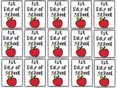 FREEBIE  Brag Tag for the first day of school.