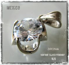 Vintage silver pendant from Mexico - www.flearoom.fi
