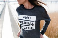 #NO VERBAL FILTER _ long sleeves sweater _ DARK GREY