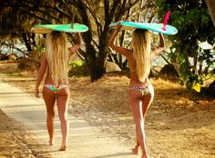 The best thing about surfer girls is that they're almost always dressed in bikinis. The best thing about surfer girls is that they're almost always dressed in bikinis. Sexy Bikini, The Bikini, Bikini Beach, Beach Bum, Surfer Girls, Bucket List For Girls, Bikini Rouge, Bb Beauty, Summer Bikinis