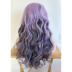 Long Purple Wig Curly Purple Wig Scene Wig Cosplay Wig Amethyst Coal ($69) ❤ liked on Polyvore featuring beauty products, haircare, hair styling tools, hair, hairstyles, beauty, hair styles, flat iron, styling iron and straight iron
