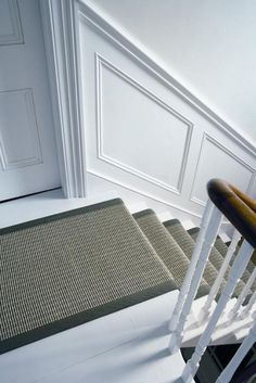 Avalon Natural Flooring and carpets, Tenterden, Kent Small Entrance Halls, Black Stairs, Staircase Runner, Natural Flooring, Interior Stairs, Grey Carpet, Rugs In Living Room, Room Rugs, Luxury Interior