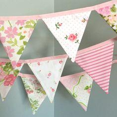 Rosa decoración cuarto de niños / bebé niña guardería / tela
