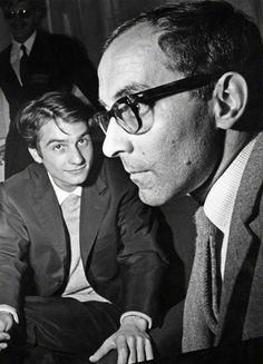 Jean-Pierre Léaud and Jean-Luc Godard.
