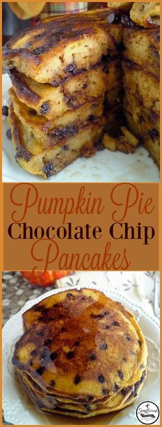 Bring in Fall with these crowd pleasing Pumpkin Pie Chocolate Chip Pancakes. Everyone will be coming back for seconds! sewlicioushomedecor.com