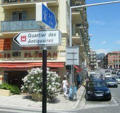 Village Ségurane - Quartier des Antiquaires in Nice, France (port area).
