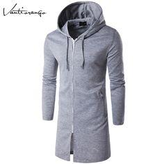 2017 Spring Hoodies Vantiorango New Style Zipper O-Neck Long Sleeve Sweatshirts Solid Color Casual Hooded Hoodie JYY0013