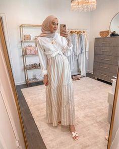 Hijab Fashion Summer, Modest Fashion Hijab, Modern Hijab Fashion, Modesty Fashion, Hijab Fashion Inspiration, Muslim Fashion, Long Skirt Fashion, Street Hijab Fashion, Hijab Style Dress