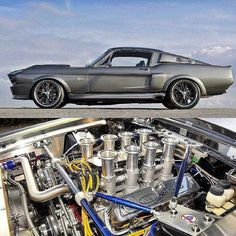 67 Mustang ( Custom built intake on a 351 Windsor ) Ford Mustang Fastback, Mustang Cobra, Shelby Mustang, Ford Svt, Classic Mustang, Ford Classic Cars, Classic Auto, Car Ford, Ford Trucks