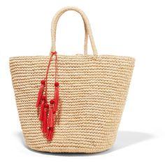 Sensi Studio Maxi woven toquilla straw tote ($235) ❤ liked on Polyvore featuring bags, handbags, tote bags, beach, сумки, cream, woven straw tote, structured tote, beach tote and woven tote bags