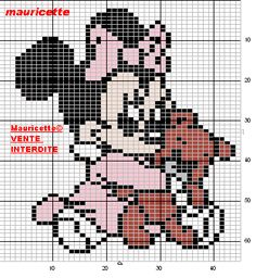 Baby Minnie Mouse perler bead pattern