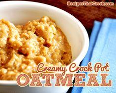 Failproof Crock Pot Steel Cut Oatmeal #CrockPot #SlowCooker