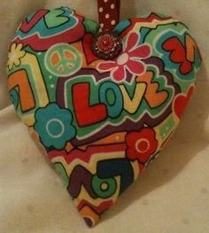 Love Fabric Heart Shaped Lavender Bag - Handmade
