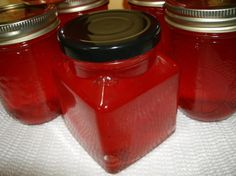 Candy Apple Jelly from Food.com: This is posted by request and I found it on recipegoldmine.com Also, I have no idea how much this will make-I'd boil a full rack of jars and work from there.