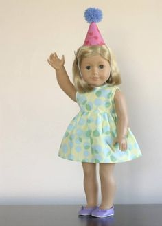 Doll Party Dress and Hat | Sewing Patterns | YouCanMakeThis.com