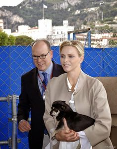 Queens & Princesses - Prince Albert and Princess Charlene have visited the Monegasque Association of physically disabled while members attended the trials for the Monaco Grand Prix