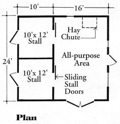 Mini Cow and dwarf goats Small Barn Floor Plans Horse Shelter, Horse Stables, Horse Barns, My Horse, Horses, Goat Shelter, Small Barn Plans, Small Barns, Barn Layout