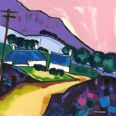 Cheviot Summer 2 by Bernie Wisniewski Limited Edition prints Artist Biography, Blues Music, Source Of Inspiration, Limited Edition Prints, Impressionist, Vibrant, Summer, Painting, Image
